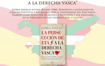 """Gorka Angulo presenta su libro """"La persecución de ETA a la derecha vasca"""""""